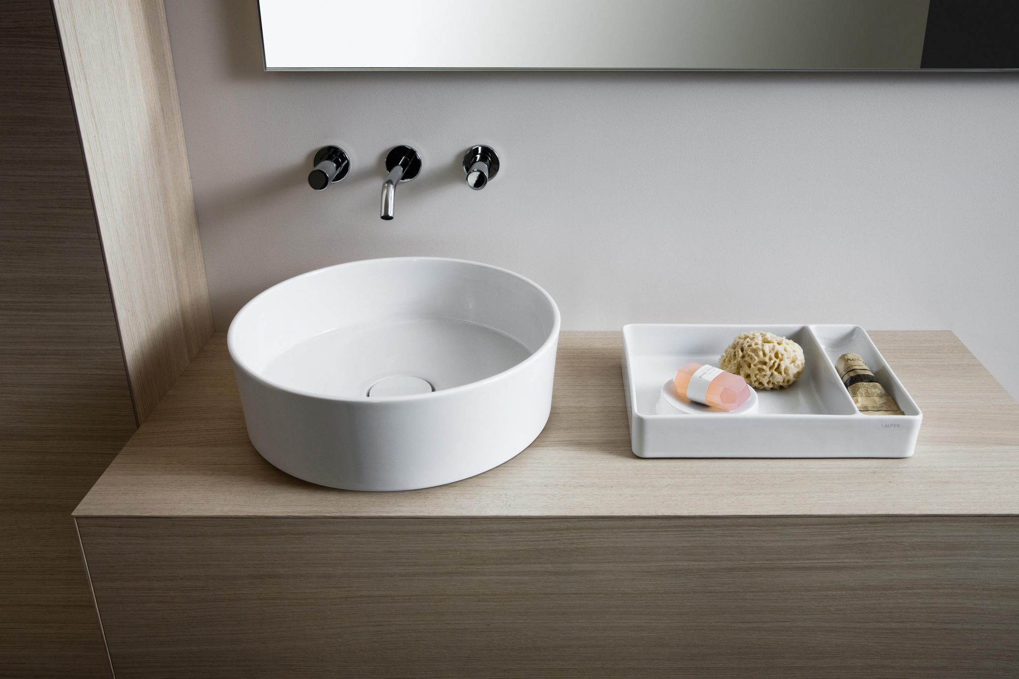 Kartell By Laufen Saphirkeramik.Sink Sit On Bowl Ambient Showroom