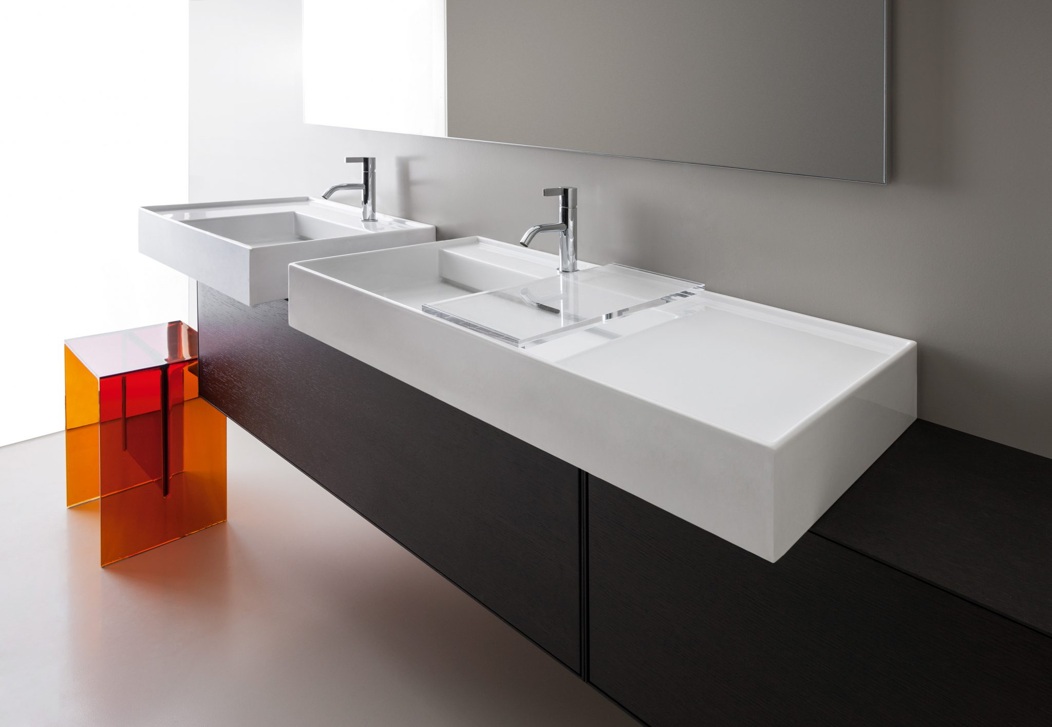 Kartell By Laufen.Asymmetrical Sink Wall Mount Sit On 120 Cm Ambient Showroom